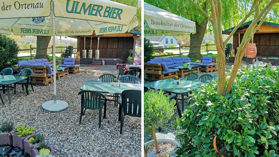 Biergarten Gaggenau - Pizzeria Winkler Hofstüble - Kiesgarten mit Eventbühne